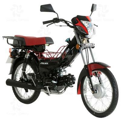 Motocicleta de Trabajo ITALIKA modelo ST 90 ROJO CON NEGRO