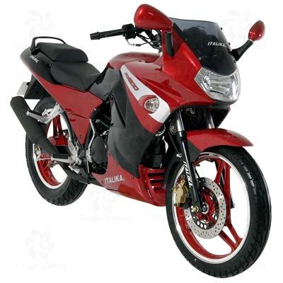 Motocicleta Deportiva marca ITALIKA modelo RT 200 ROJO